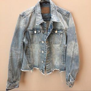 Blank NYC denim jacket with raw hem